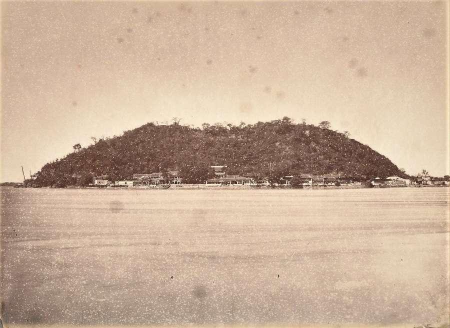 View of Yang Tse Kiang River The Silver Island  China C1880