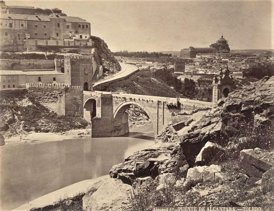 Puente De Alcantara - Toledo Spain C1875