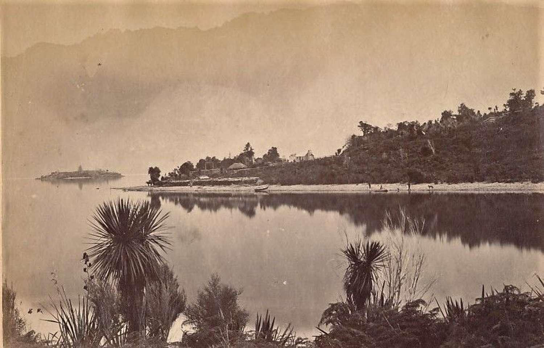 View of Lake Wakatipu New Zealand C1875