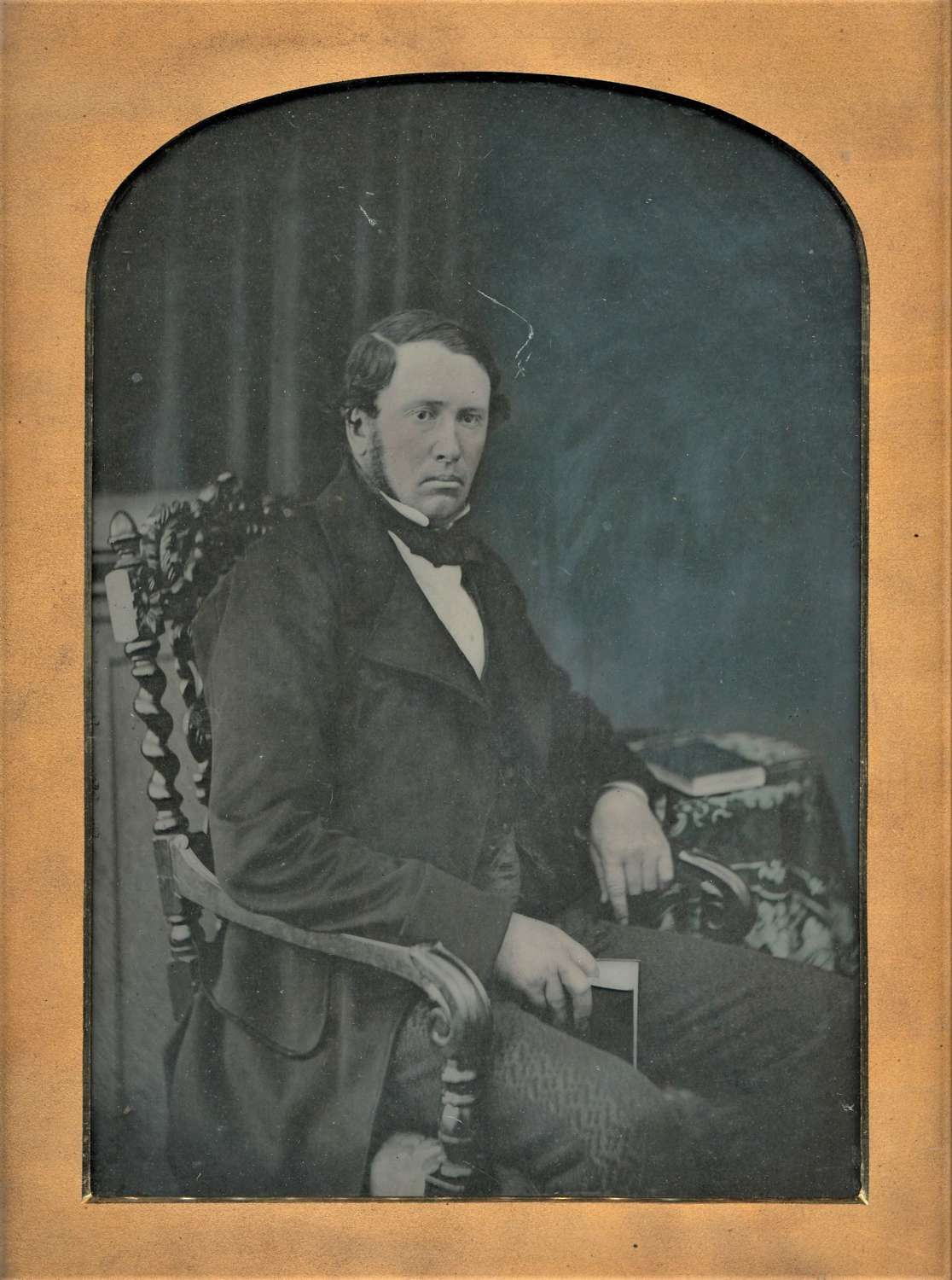 Full Plate Hand Tinted Ambrotype of A Scottish Gentleman C1860