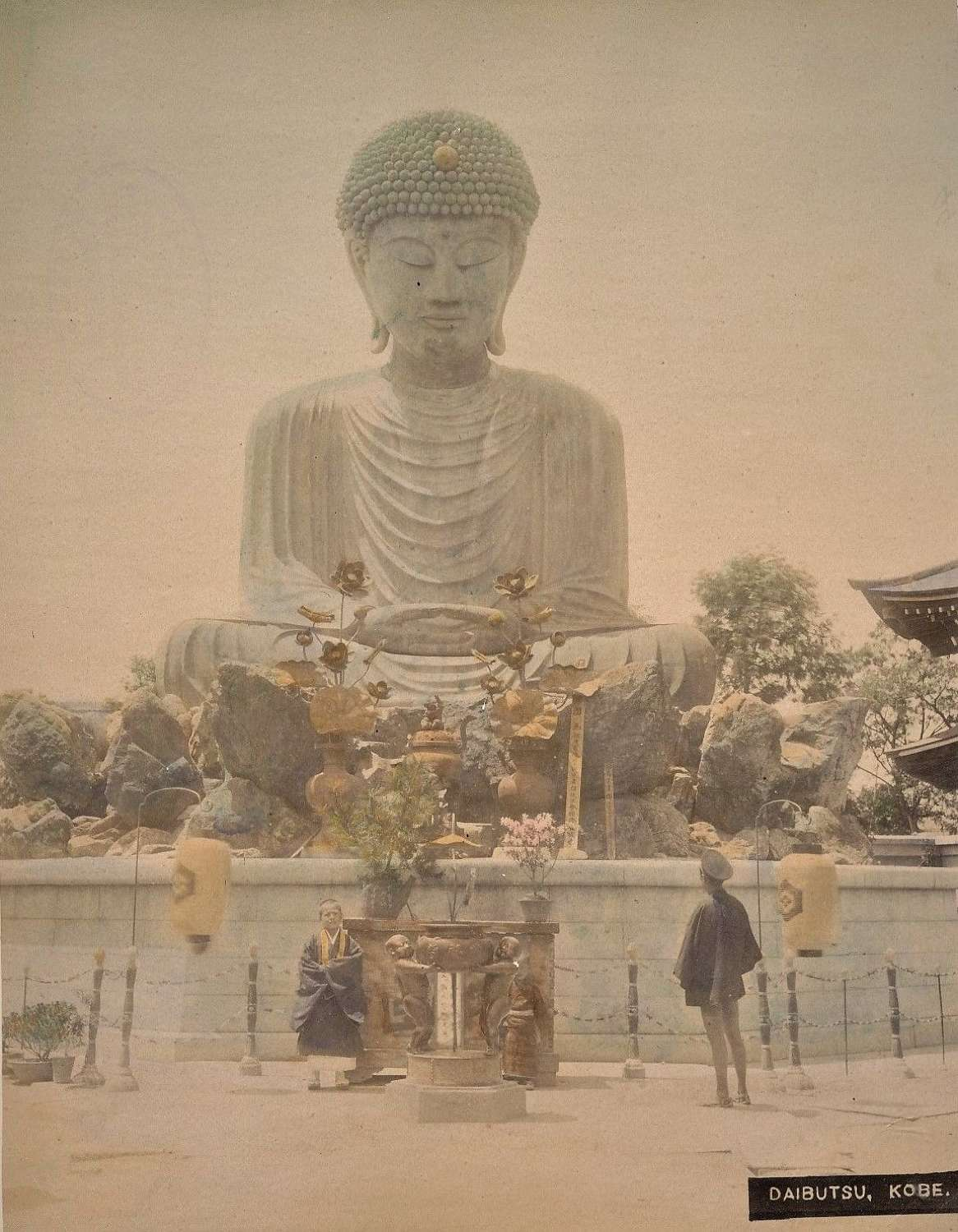 Coloured Photo Daibutsu .Kobe  Japan C1880