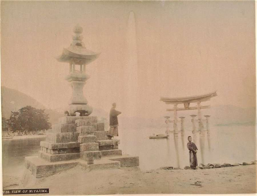 Coloured PhotoView of Miyajima.Japan C1880