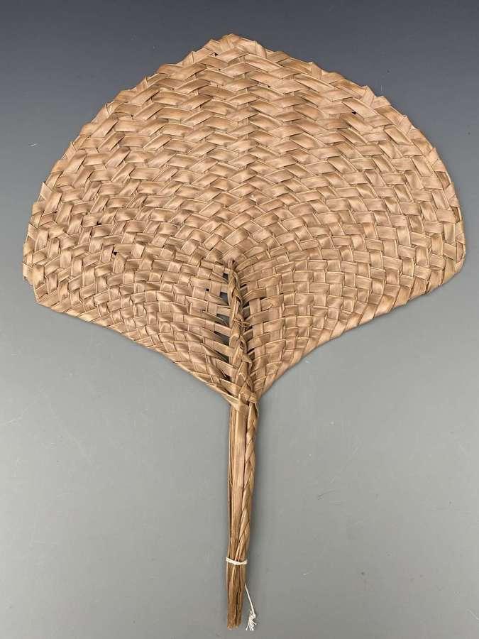 A Samoan Fan (coconut palm leaf )