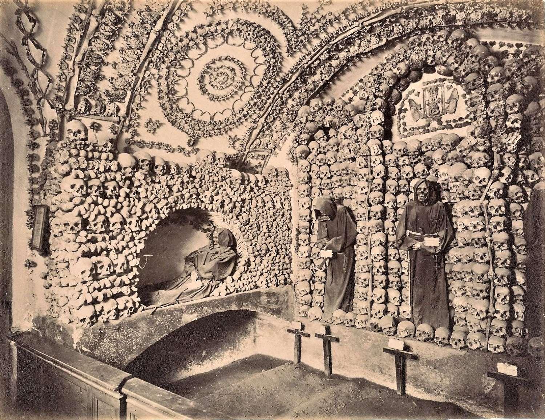 Original Photo Catacombs of Rome Italy C1875