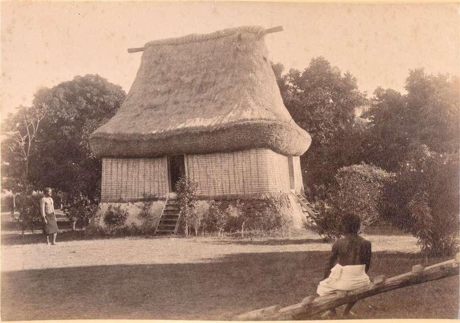 Original Photo of Native House atFiji C1885