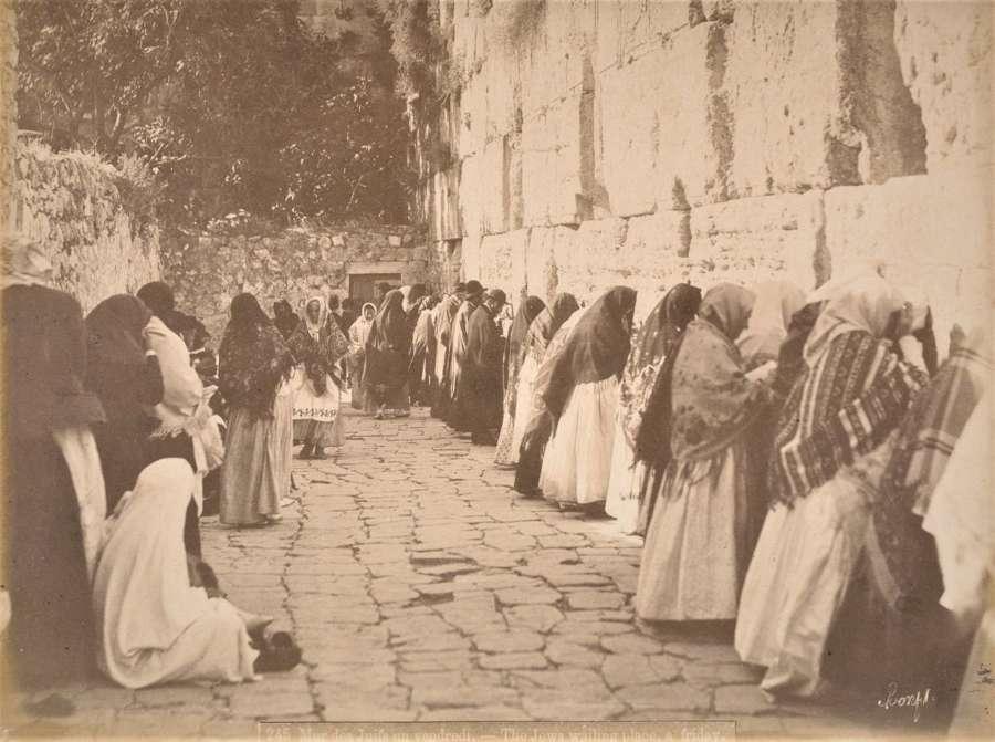 The Wailing Wall Jerusalem By Bonfils C1880